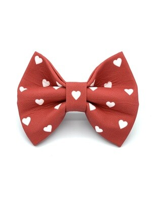 Hearts Dog Bow