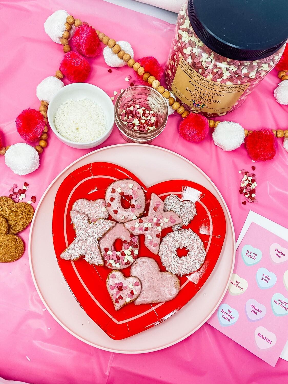 DIY Valentine's Dog Treat Decorating Kit