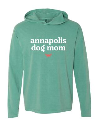 Annapolis Dog Mom Long Sleeve Hooded Tee