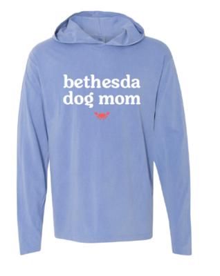 Bethesda Dog Mom Long Sleeve Hooded Tee