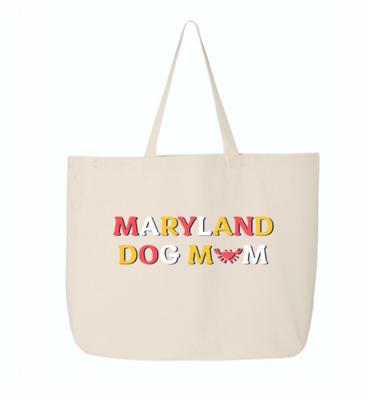 Maryland Dog Mom Canvas Tote Bag