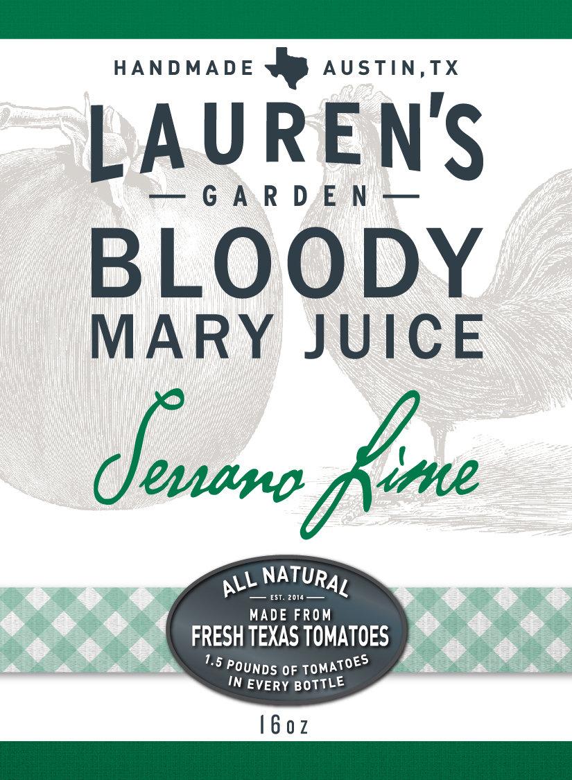 Serrano Lime Bloody Mary Juice 16oz