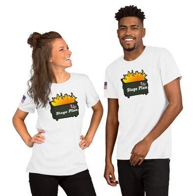 Dumpster Fire T-Shirt w/Flag