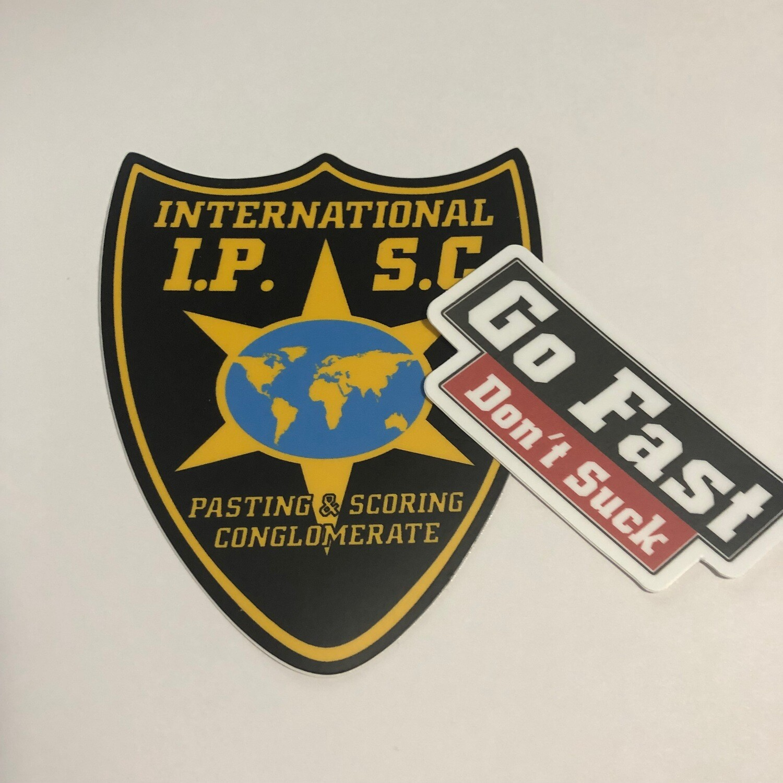 International Pasting and Scoring Plus GFDS Sticker (pair)