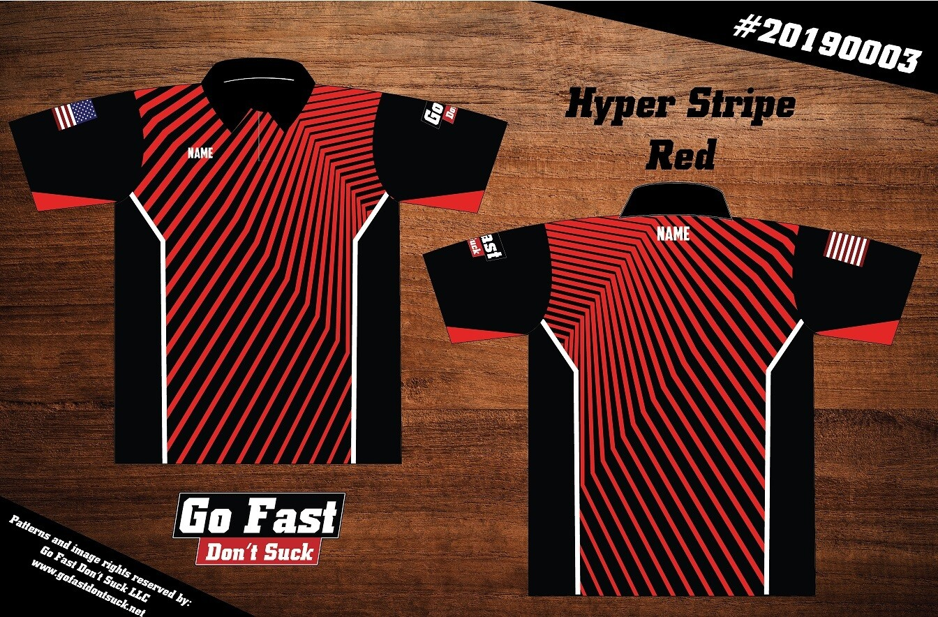 Hyper Stripe - Polo Jersey