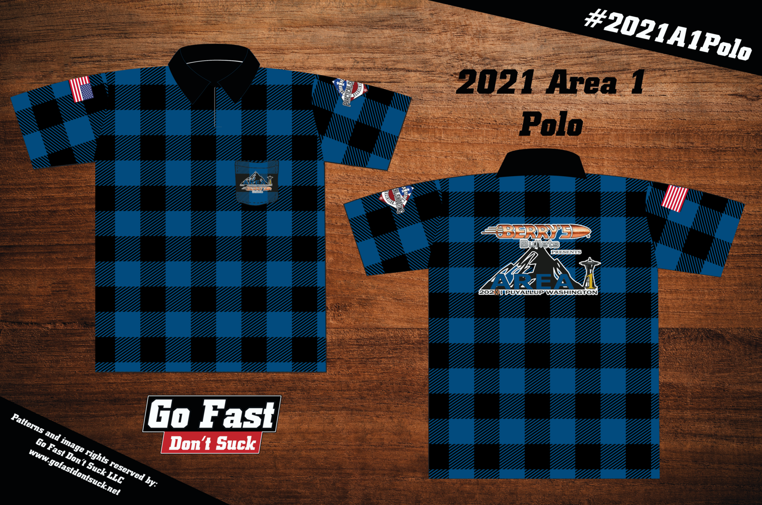 Berry's Bullets 2021 Area 1 Championship - Match Polo Jersey