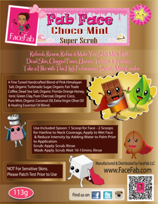 Fab Face Choco-Mint Super Scrub