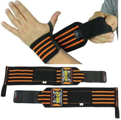 Deluxe RED Wrist Wraps 13 Inches  Long (1 Pair /2 Wraps) Cotton