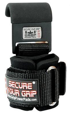 Weight Lifting Metal Hooks Neoprene Padded Wrist Wraps Set of 2
