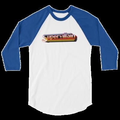 Supervillain Logo 3/4 sleeve