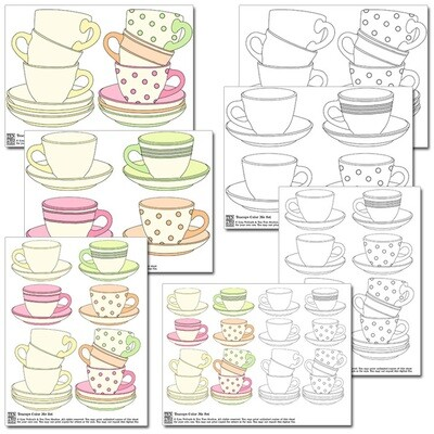 Teacups Color Me Set