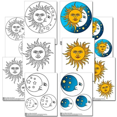 Sun & Moon Color Me Set