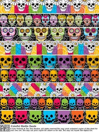 Colorful Skellie Bands