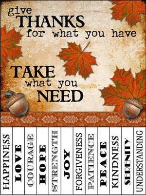 Fall Take What You Need Signs