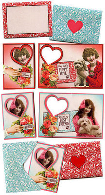 Puppy Love ATCs & Envelopes