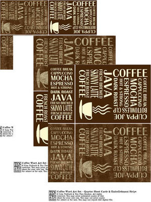 Coffee Word Art