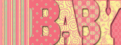 Pink BABY Letter Book