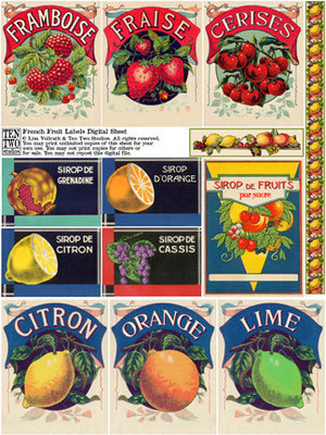 French Fruit Labels