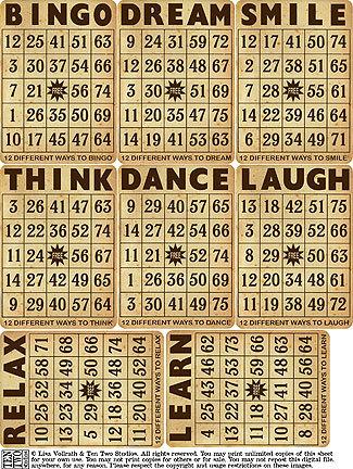 Grungy Bingo Cards