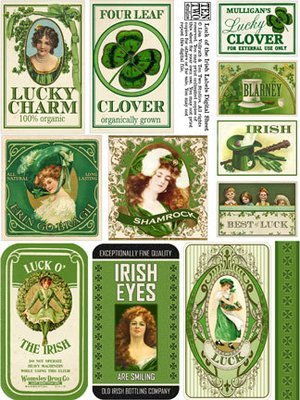 Luck of the Irish Labels