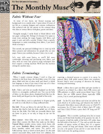 March – Fabric Without Fear