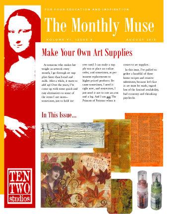 August – Make Your Own Art Supplies