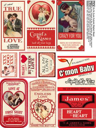 So In Love Labels
