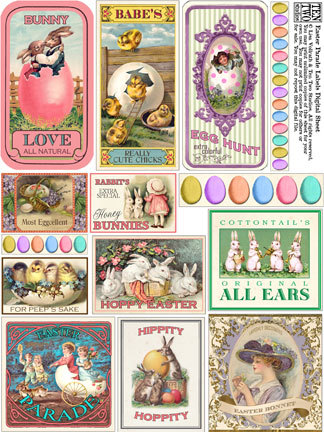 Easter Parade Labels