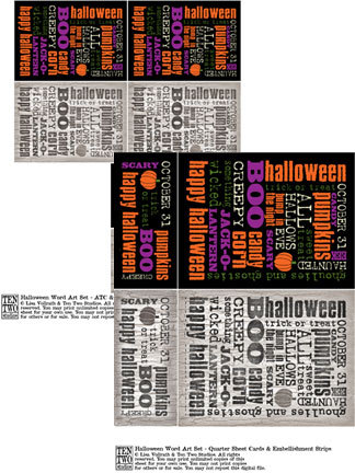 Halloween Word Art