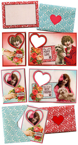 Puppy Love ATCs & Envelopes
