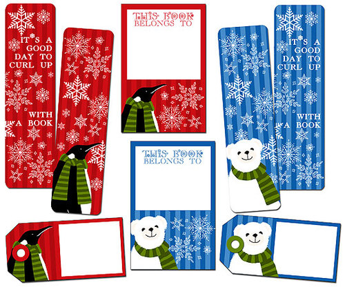 Winter Friends Bookmark Set