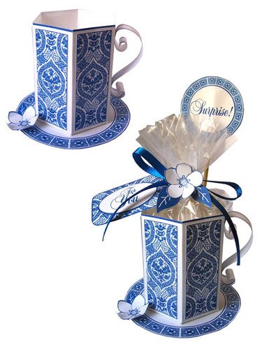 Blue Tea Cup Set