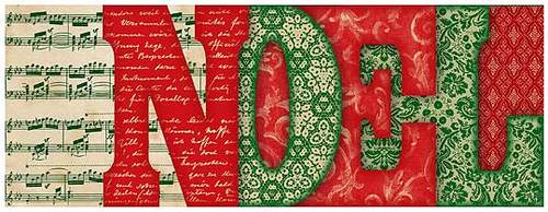 Festive NOEL Letter Book