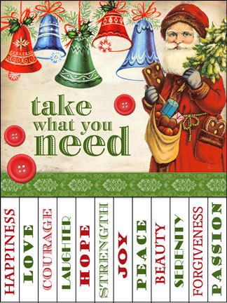Christmas Take What You Need Signs