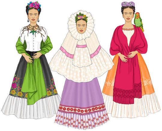 Frida Paper Doll Set