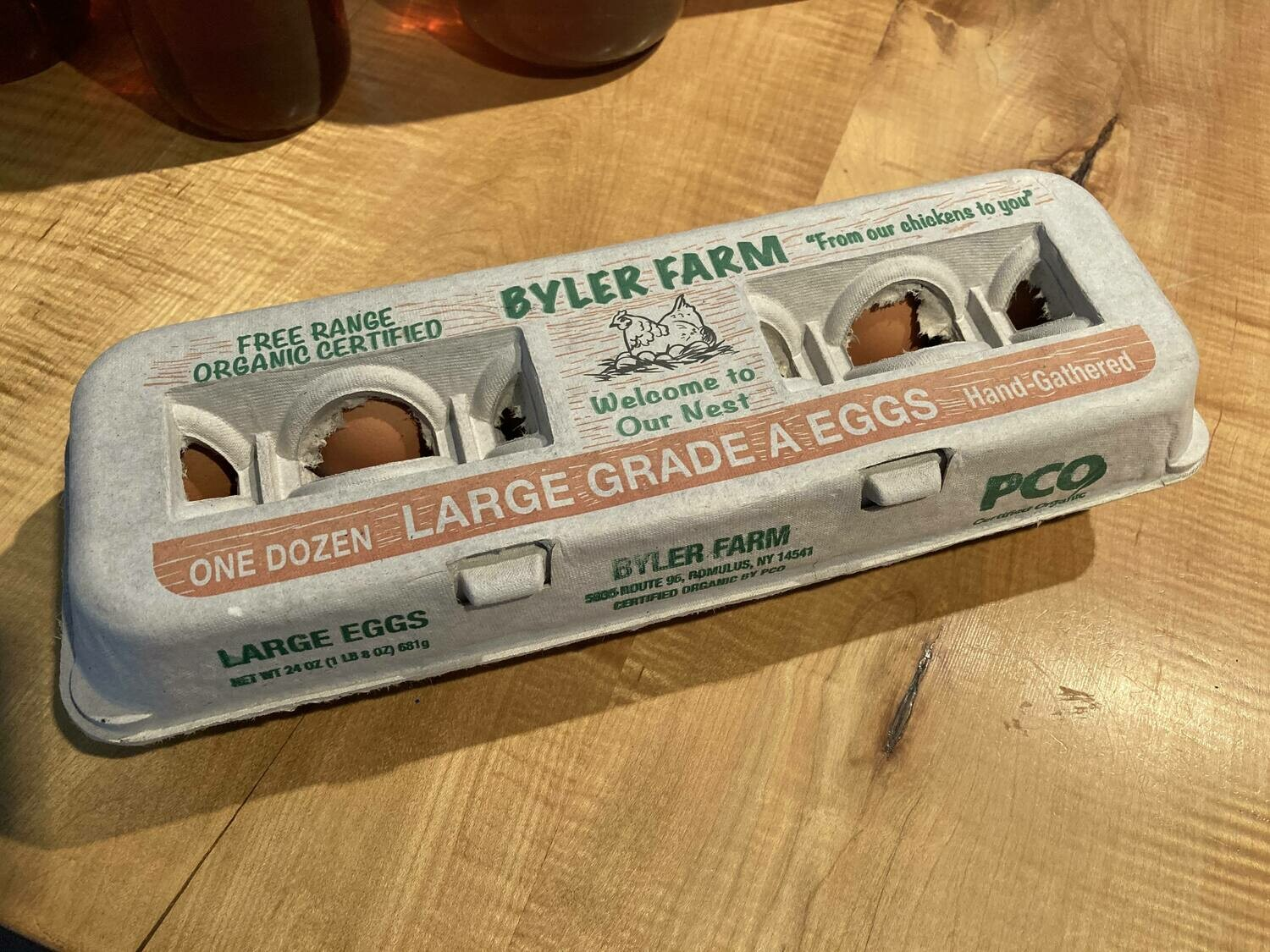 Certified Organic Brown Eggs Large by Byler Farm