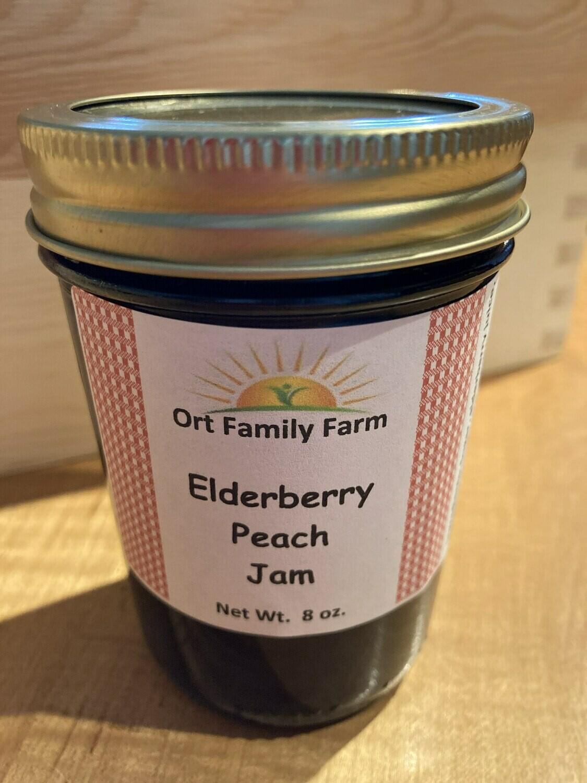 Elderberry Peach Jam 8 oz