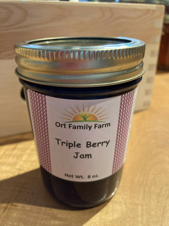 Tripple Berry Jam 8 oz