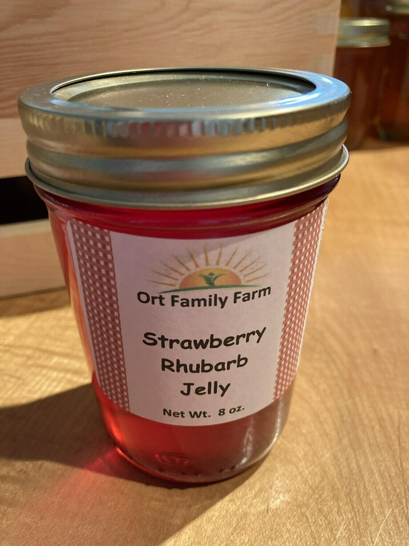 Strawberry Rhubarb Jelly 8 oz