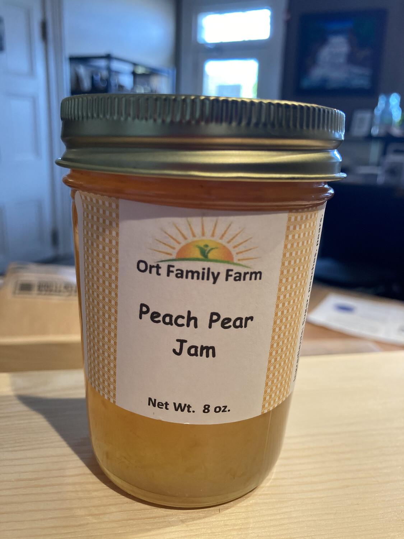 Peach Pear Jam 8 oz