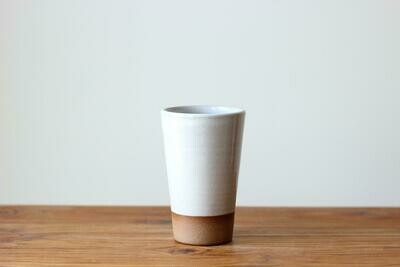 Pint Glass - 16 Ounce Cup in Stoneware White