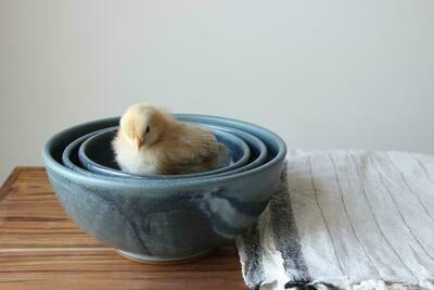 Ceramic Nesting Bowl In Wellhouse Blue