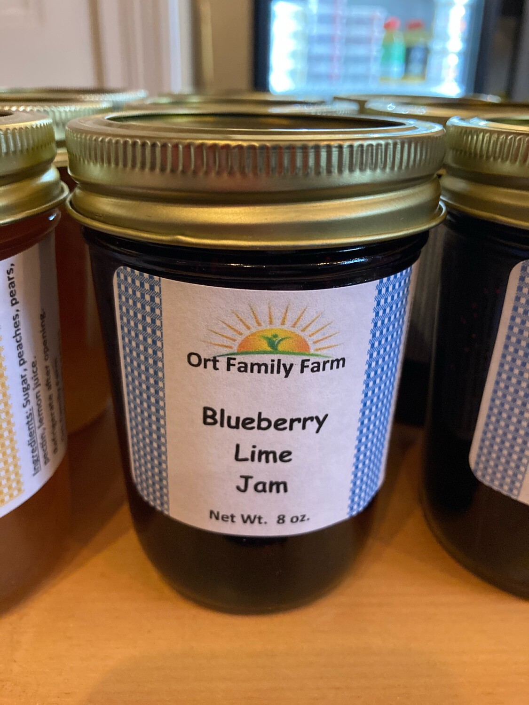 Blueberry Lime Jam 8 oz