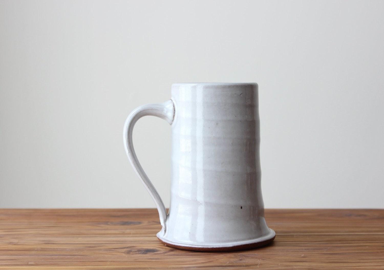 Stoneware White Stein