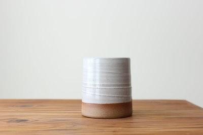 Juice Glass in Stoneware White