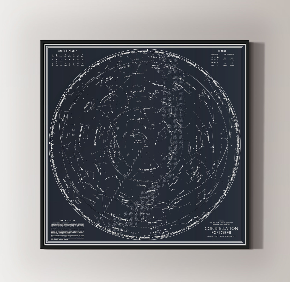 Constellation Explorer: Compass to the Northern Sky in Blue