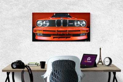 BMW E30 M3 CANVAS PRINTS - 84cm x 41.5cm