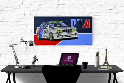 BMW E30 M3 DTM CANVAS PRINTS - 83.5cm x 41.5cm