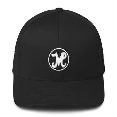 Johnny Million Records Fitted Cap White Logo