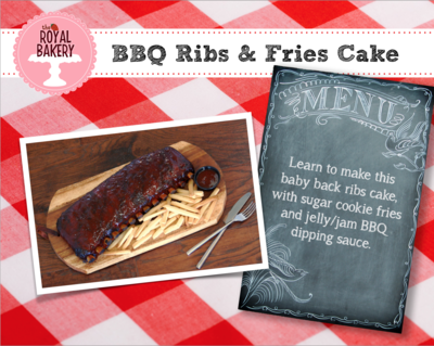 BBQ Ribs and Fries Cake
